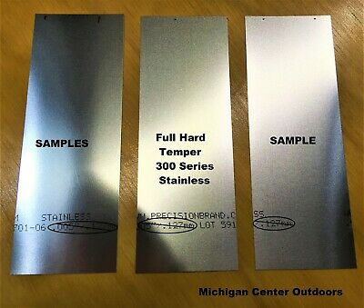 """.008"""" Stainless Steel Shim Stock - 3 Pak 2"""" x 6""""  Handy Size for Projects - USA"""