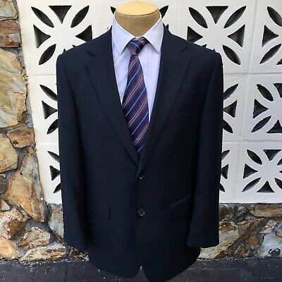CIFONELLI Milano Men's Sports Coat Super 150's Wool Navy Blue Size 40 R