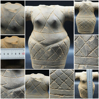 Rare Circa 2200-1800Bc Ancient Bactrian Female Princes Goddes Idol Statue #A457