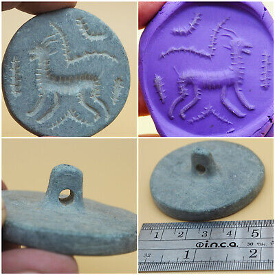 Beautiful Scarce Ancient Near Eastern Wonderful Seal Stamp #A470