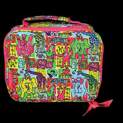 Lilly Pulitzer Zoo Animal Lunch Bag Insulated Tote Zip Around Lunchbox