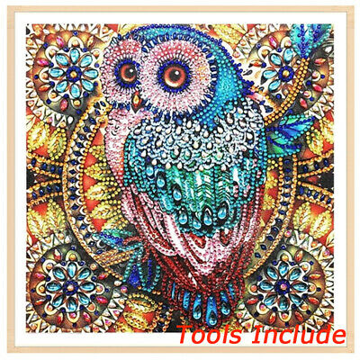 Cartoon Owl DIY 5D Drill Diamond Painting Embroidery Home Cross Stitch Kit+Tools