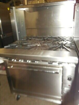 """Used Montague 36"""" Range With 6 Burners And Std Oven"""