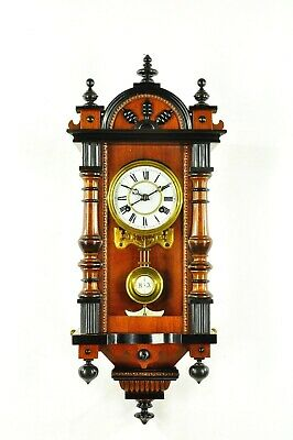 Gorgeous Antique German  Spring Driven Miniature Wall Clock approx.1910