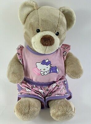 "Build A Bear HELLO KITTY Pajamas Outfit w/ 15"" Plush Bear"