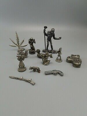 Pewter figurines lot of 12