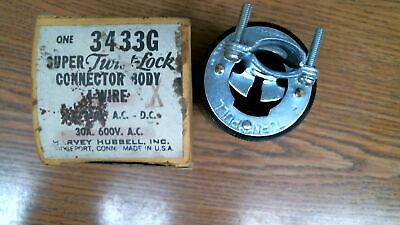 #2569 Harvey-Hubbell 3433G Super-Twist Lock Connector Body 4 Wire