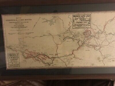 Map of Adirondack canoe route 1947 Conservation Dept.  New York