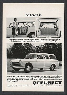 1964 Peugeot 404 Station Wagon So Here It Is Pretty woman with groceries ad