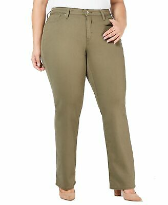 Levi's Womens Jeans Green Size 24W Plus Stretch Straight High-Rise $59 320