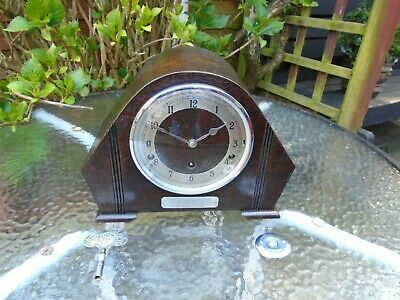 Garrard British Quality Fully Restored Westminster Chime Mantle/Sideboard Clock.