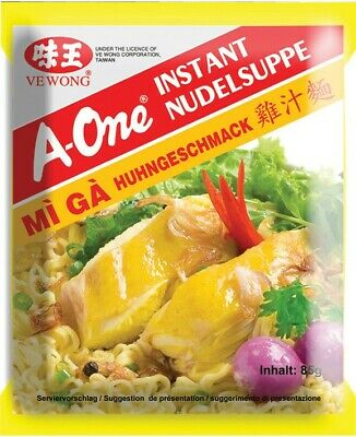 (5,88€/1kg) A-One [ 30x 85g ] Instant Nudelsuppe [ Huhngeschmack ]