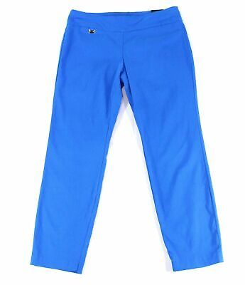 Alfani Womens Pants Blue Size 14 Dress Skinny Tummy-Control Stretch $49 238