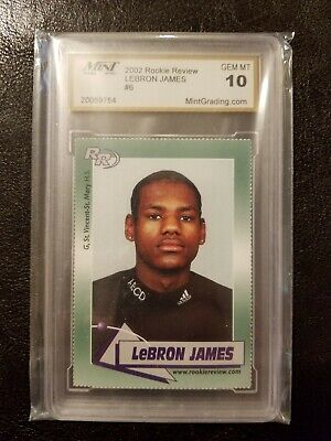 2003 Lebron James Rookie 10 Gem Mint Lakers Rc, Rc Auto Rp + Kobe Bryant Rc Rp!