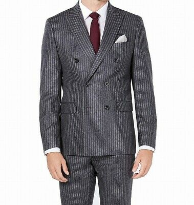 Michael Kors Mens Suit Separates Gray Size 40 Jacket Double Breasted $250 224