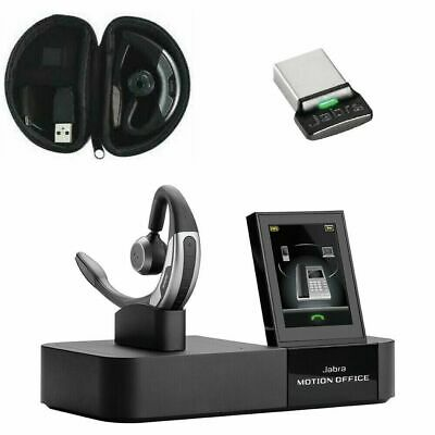 Jabra Motion WHB006 Office Headset 6670-904-103 + Travel Case + Auxiliary Cable