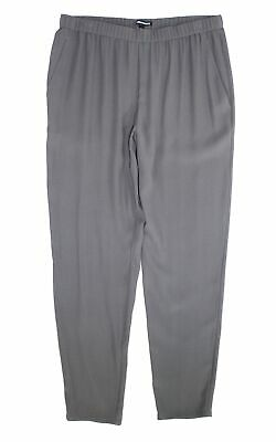 Eileen Fisher Womens Pants Gray Size Large L Slim Ankle Leg Stretch $278- 163