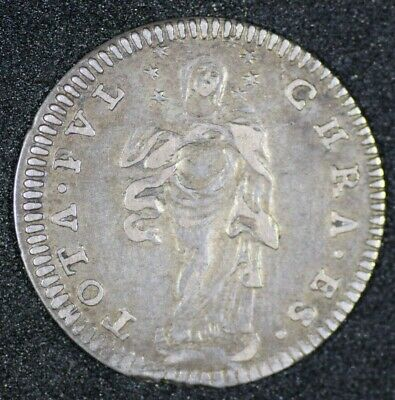 Papal States Italy 1755 Grosso Km969 Higher Grade
