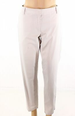Eileen Fisher Womens Pants Beige Size Small S Flat-Front Four-Pocket  $158- 575