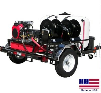 PRESSURE WASHER Commercial - Trailer Mounted - 5.5 GPM  5000 PSI - 24 Hp Honda
