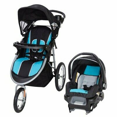 Baby Jogger Stroller with Car Seat Infant Travel System Combo Aqua-Blue New