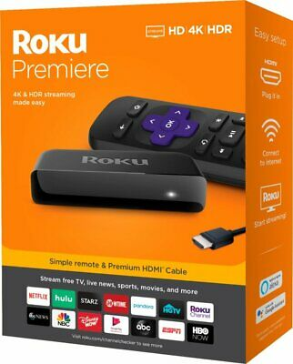 Roku Premiere Ultra HD 4K Streaming Media Player Stick - Free AU adaptor
