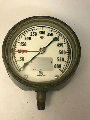 Vintage Pressure Gauge Ashcroft Instruments 1-600 psi Made in USA Steampunk