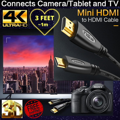 3Feet SPEED Cable HDMI male Ultra HD 4K PREMIUM 3D connect Camer-TV-Tablet-Sreen