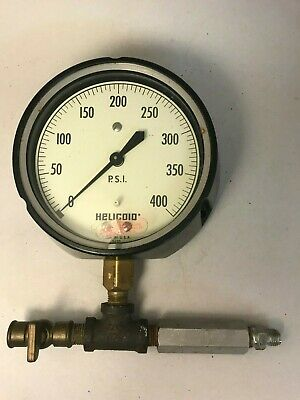 Vintage Pressure Gauge Helicoid 1-400 psi Made in USA Steampunk