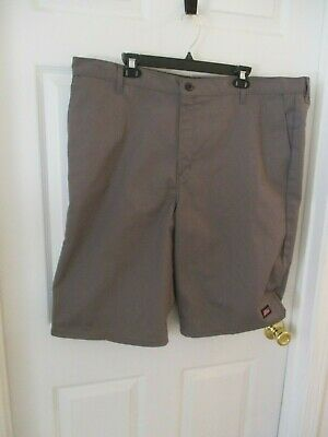 Dickies Gray Work Shorts Cotton Polyester Cell phone Pocket Mens 42 Inseam 13 in