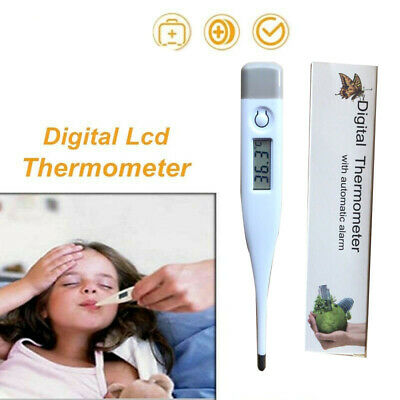 LCD Digital Thermometer Medical Body Human Fever Measure Temperature Baby Adult