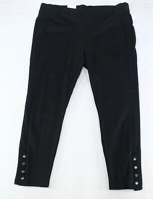Style & Co Womens Leggings Black Size 18W Plus Snap Button Ponte Pull On $56 132