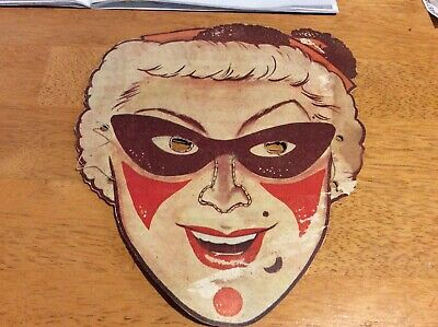 Kelloggs Cut Out Mask Vintage Cereal Toy
