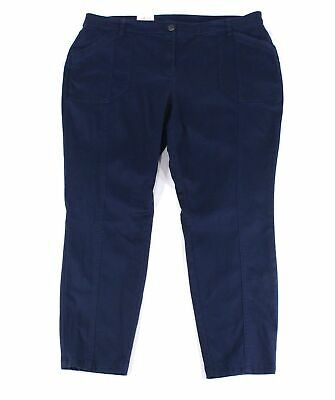 Style & Co. Womens Pants Blue Size 24W Plus Skinny Mid-Rise Stretch $59 225