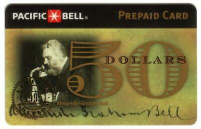$50. Alexander Graham Bell 1995 Commemorative USED Phone Card