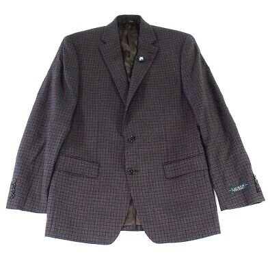 Lauren by Ralph Lauren Mens Blazer Brown Size 38R Two Button Wool $350 065