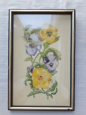 Framed Watercolor Painting Signed by Artist Wall Hanging 7.5 x 11.5