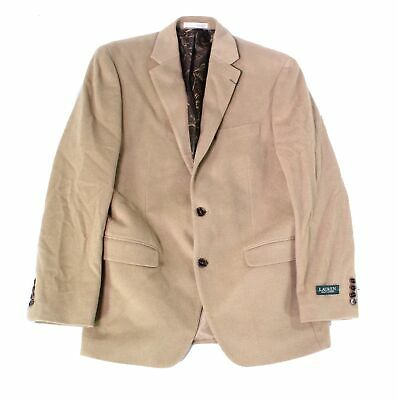 Lauren By Ralph Lauren Mens Blazer Camel Beige Size 38 Two Button $450 050