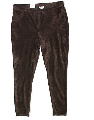Style & Co. Womens Leggings Brown Size 0X Plus Corduroy Comfort Stretch $49 004