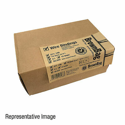 Wire Bindings 25.4mm Silver 2:1, 220 Sheets capacity, Box of 100. BBW32550C2