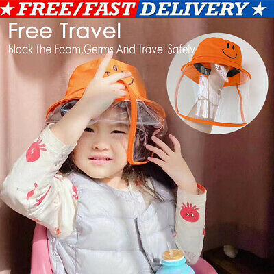 Full Face Protective Cap Outdoor Windproof Dustproof Anti-Fog Face Shield Hat#