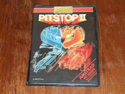 Pitstop II vintage PC game by Amstrad