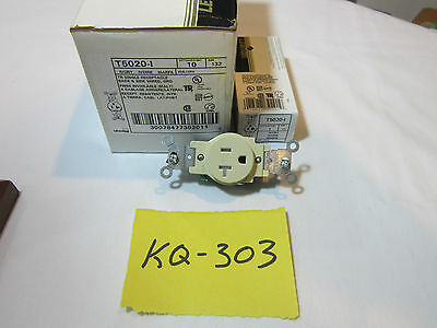 10 Leviton Commercial Grade Single Outlet Receptacle 20A 125V T-5020-I NEW Ivory
