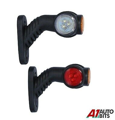 2x Recovery Side Marker Outline Led Lights 12/24v Trailer Truck Lorry E-Marked