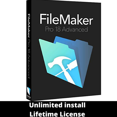 FileMaker Pro 18 Advanced Official Version🔥Win/MAC OS🔥 Lifetime License Key ✅✅