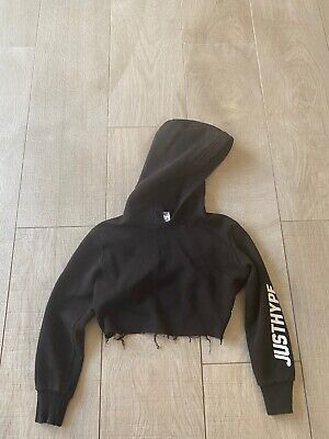 Just Hype Girls Cropped Hoodie Aged 7/8 Years Old