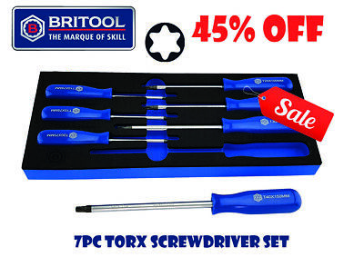 **Sale** Britool Hallmark 7Pc Torx / Star Screwdriver Set