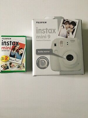 Fujifilm Instax Mini 9 Instant Camera Smoky White. + 20sheets mini instant film