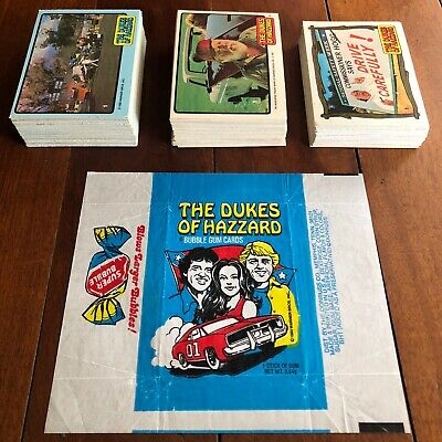 1981 DONRUSS Dukes Of Hazzard Trading Cards, Stickers Complete Set 1-3 + Wrapper