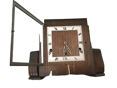 Perivale Chiming Wooden Mantle Clock Made In England